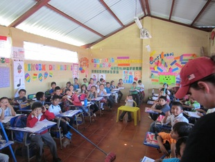 Students in a Classroom in Guatemala with Give and Teach